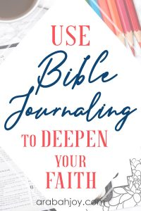 Read this post for tips on how to deepen your faith in God. See our journaling resources for your Bible study time.
