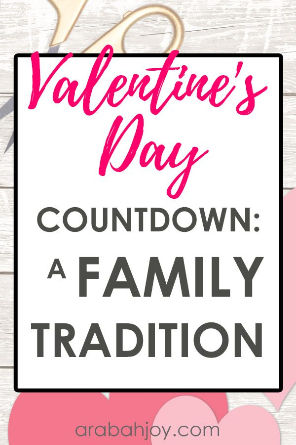 Valentine's Day Activities {A Family Tradition}