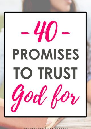 40 promises to trust God for - These 40 days of praying the promises of God will strengthen your faith.
