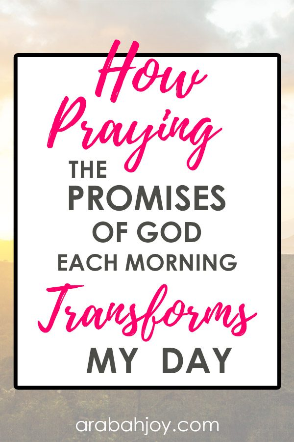 "See how praying the promises of God each morning transforms my day, and learn how to ""amen"" God's promises in your life. Join us as we are praying through the promises of God."