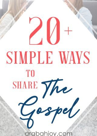 Do you need help with how to share the gospel? Use these methods of sharing the gospel to help your friends and family come to know the Lord.