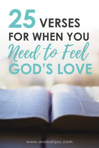 Do you ever wonder if God love's you? Or if God is mad at you? The Bible tells us how God feels about us and these verses will help you understand and feel His love