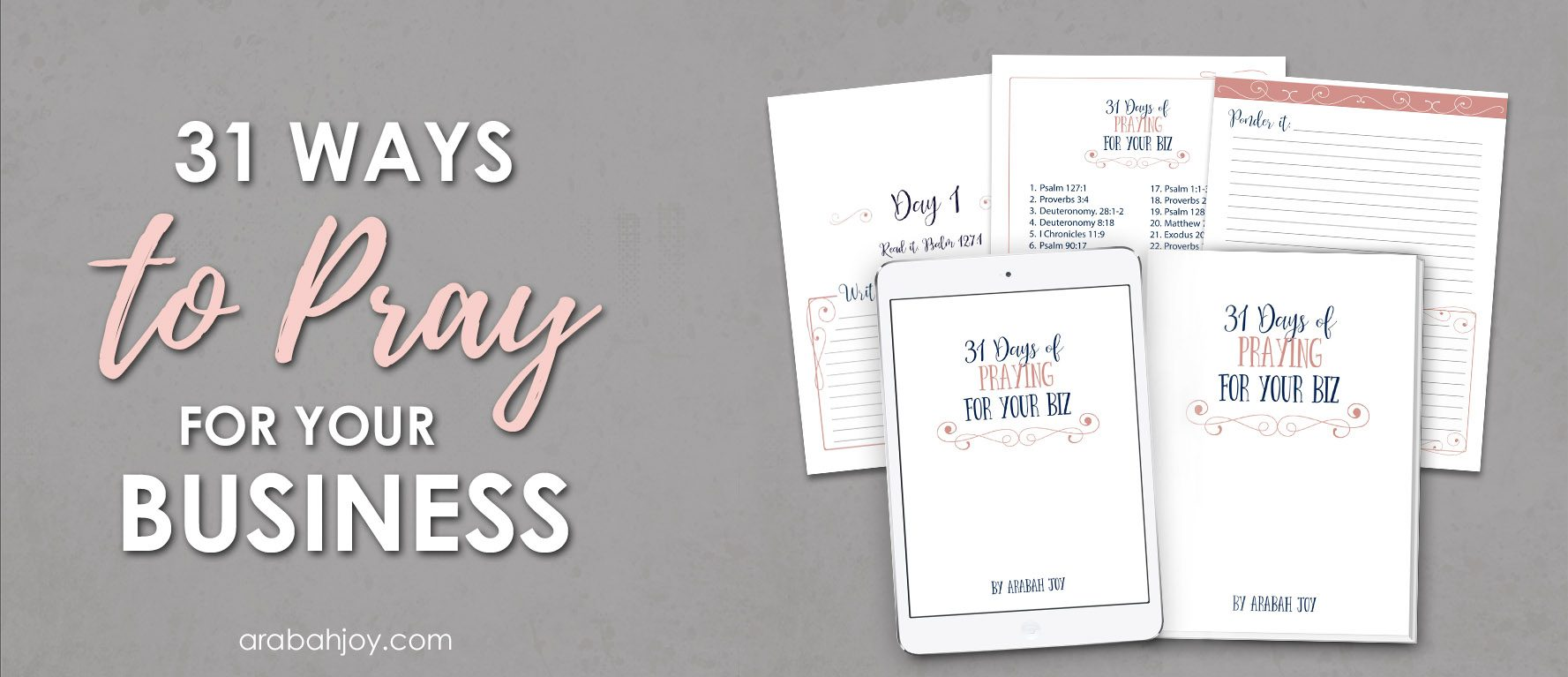 How to Pray for Your Business: Best Scriptures to pray! Join us for this 31 Day Challenge and Pray Scripture for Your Business!