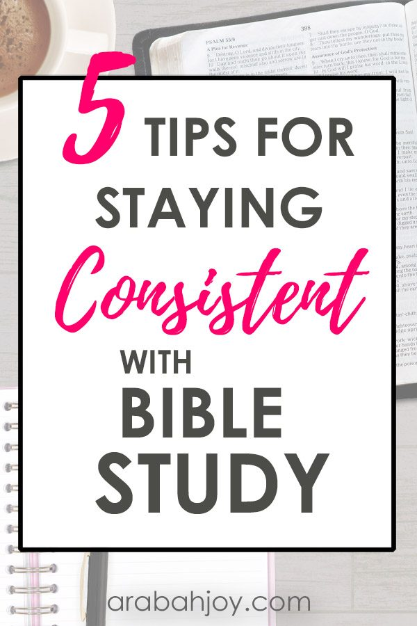 If you long for a quiet time with God, but find yourself getting sidetracked, try these 5 tips for staying consistent with Bible study.