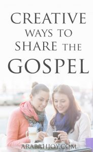 If you're looking for creative ways to share the gospel, try these unique ways to share the gospel. Which one(s) will you try?