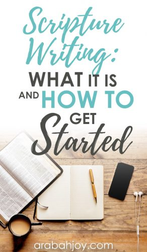 what Scripture writing is and how to get started