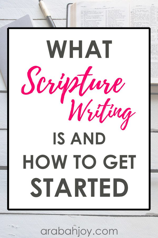 If you're ready to get started with Scripture writing, try this Scripture writing plan. We've got a 30-day Scripture writing challenge for you!