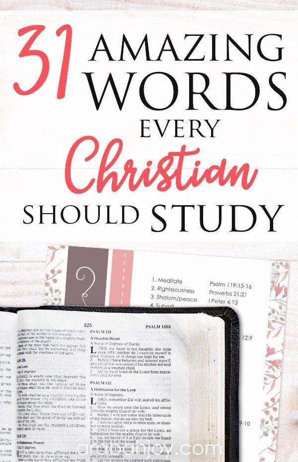 31 Amazing Bible Word Studies You Should Do