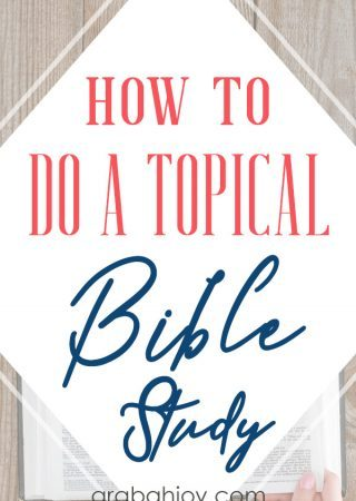 Do you want to learn how to do a topical Bible study? Uses these