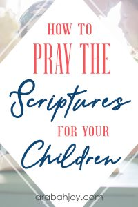 You can speak life over your child with these prayer points for children. Learn how to pray the Scriptures for your children. Let's be moms in prayer for our children.