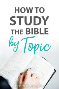 The best way to find out what the Bible says about things that impact us is to do a topical Bible study. Learn these tips to study the Bible by topic.