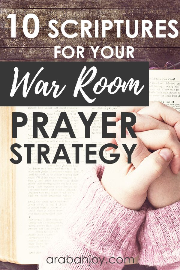 Use these war room Scriptures in your prayer room. These powerful Scriptures will help you pray for yourself and for others.