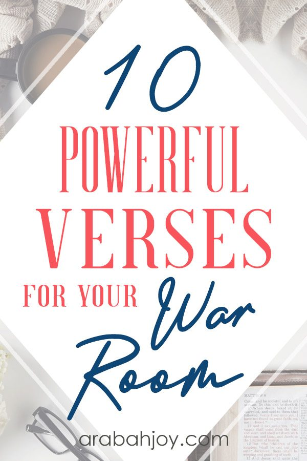 10 War Room Scriptures for Your War Room Prayer Strategy