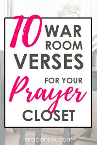 These prayer room Scriptures will help you to focus on God's Word in your prayer time.