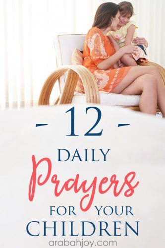 """Try these 12 daily prayers for your kids, using this """"prayas you go"""" model. This model helps when your schedule might prevent you from prayingfor your kids."""