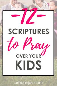 If your schedule prevents you from praying for your kids in the way you want to, try this prayas you go model. We're sharing 12 daily prayers for your kids.