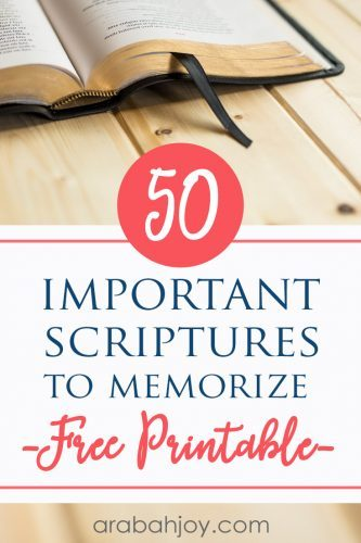 Learn these important Scriptures for new believers. We're sharing 50 important Bible verses - plus a free printable.