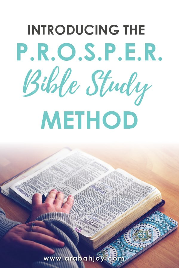 In this post, you'll find a simple 7 step process for studying ANY passage of Scripture. Try the PROSPER Bible Study Method for yourself and see if it doesn't become a new favorite!