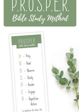 PROSPER Bible Study Printable Bookmark