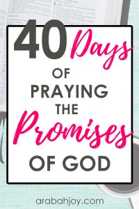 Are you learning to grow your trust in God? These 40 days of praying the promises of God will strengthen your prayer life.