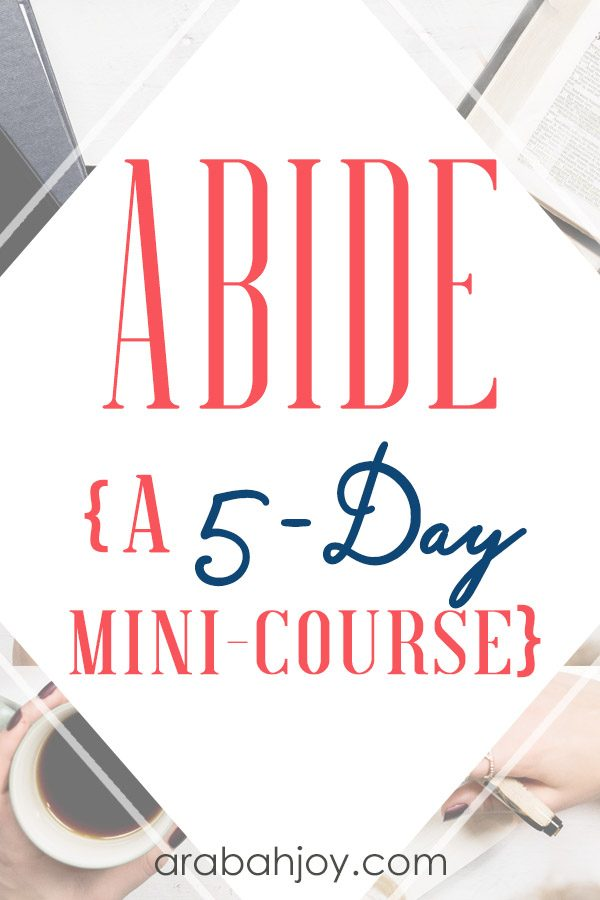 Read how the Abide 5-day mini course will help you draw closer to the Lord. Discover practical tools for abiding in Christ. #faithbuilding #spiritualgrowth #Biblestudy