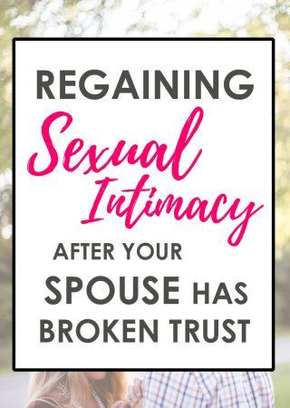 Regaining sexual intimacy after your spouse has broken trust can be challenging, but it's possible! Read these tips on rebuilding sexual intimacy in our series on Christian sex.