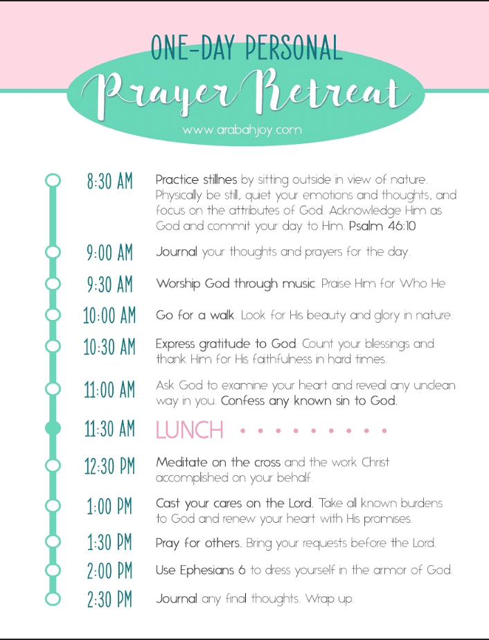 How to have a Personal Prayer Retreat