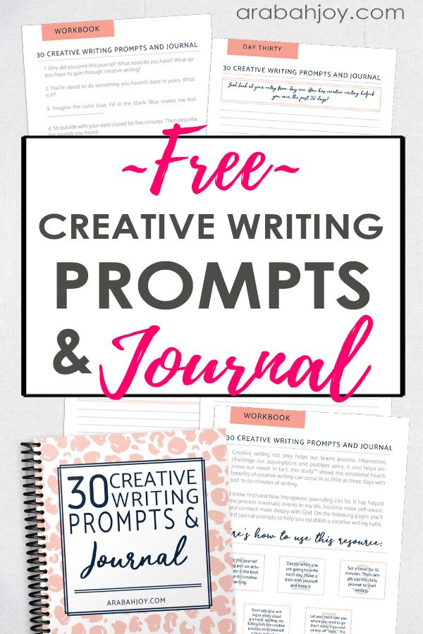 Use these free creative writing prompts to generate ideas when you have writer's block and to improve your overall mood!