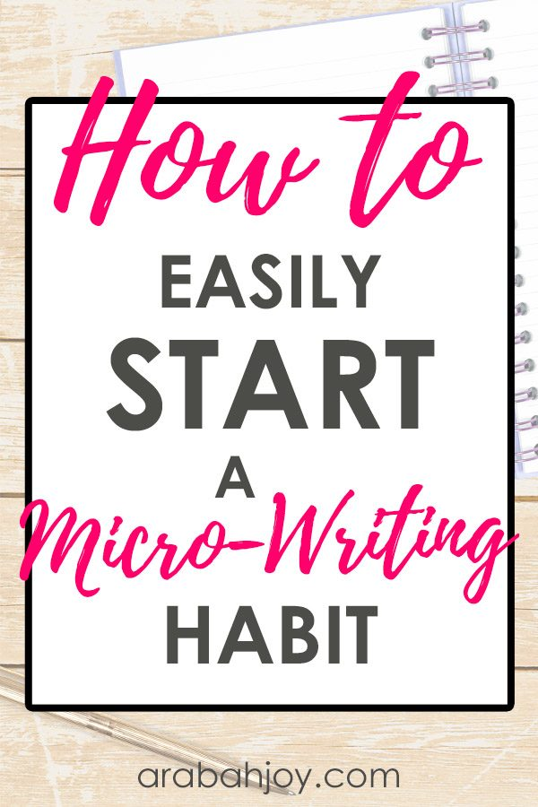 If you're looking to establish a writing habit, try these prompts that will help you write daily and start a micro-writing habit. #microwriting #writinghabit