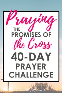 Join us for this 40 day challenge to learn that the promises of God are yes and amen. Pray these 40 promises back to God and learn how to trust God more. #prayingthepromises #prayer #spiritualgrowth