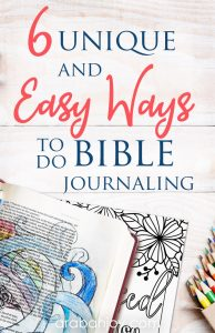 If you're wanting to learn some easy ways to do Bible journaling, try these tips for how to do Bible journaling & read these unique ways to do Bible journaling.