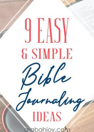 If you're looking for Bible journaling ideas or Bible journaling techniques, be sure to read these 9 easy and simple Bible journaling ideas.