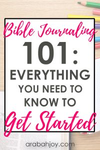 If Bible journaling terms seem confusing, use our Bible journaling glossary. This will prepare you for traditional Bible journaling and help you feel more confident in Bible journaling.