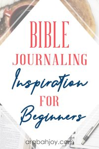 Did you know that you can still do Bible journaling even if you feel more like a non-artist Bible journaler? Start with us, using these 5 steps to Bible journaling for beginners.