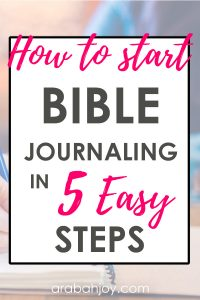 Learn these steps to Bible journaling for beginners, determine your Bible journaling style and jump in! If you're interested in Bible journaling, this is a great series where we can learn together.