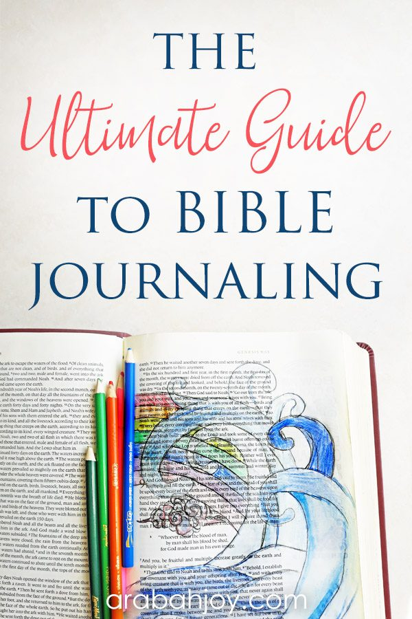 Are you new to Bible art journaling? Use this Bible journaling glossary that serves to teach Bible journaling information that will help you feel more confident in trying Bible journaling.