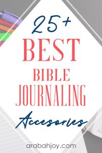 Are you looking for the best Bible journaling supplies? We have you covered - from choosing the best Bible journaling Bible, down to the smallest detail of Bible stamps. See our choice of 25+ best Bible journaling accessories.