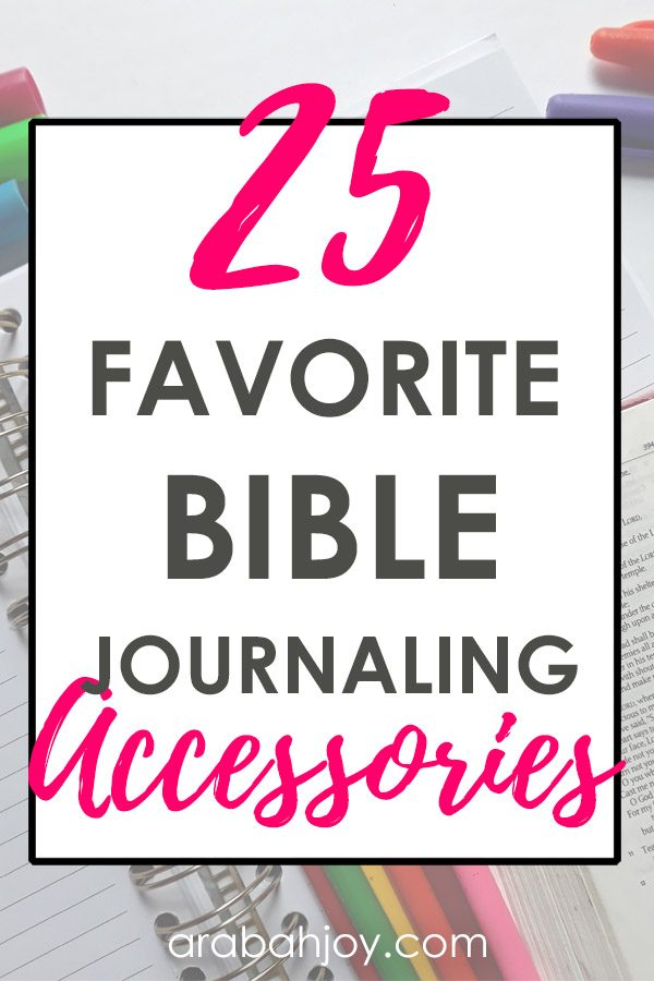 Choosing Bible journaling supplies can be overwhelming. We've removed the guesswork and have gathered our favorite Bible journaling materials. See what made our list for 25+ best Bible journaling accessories.