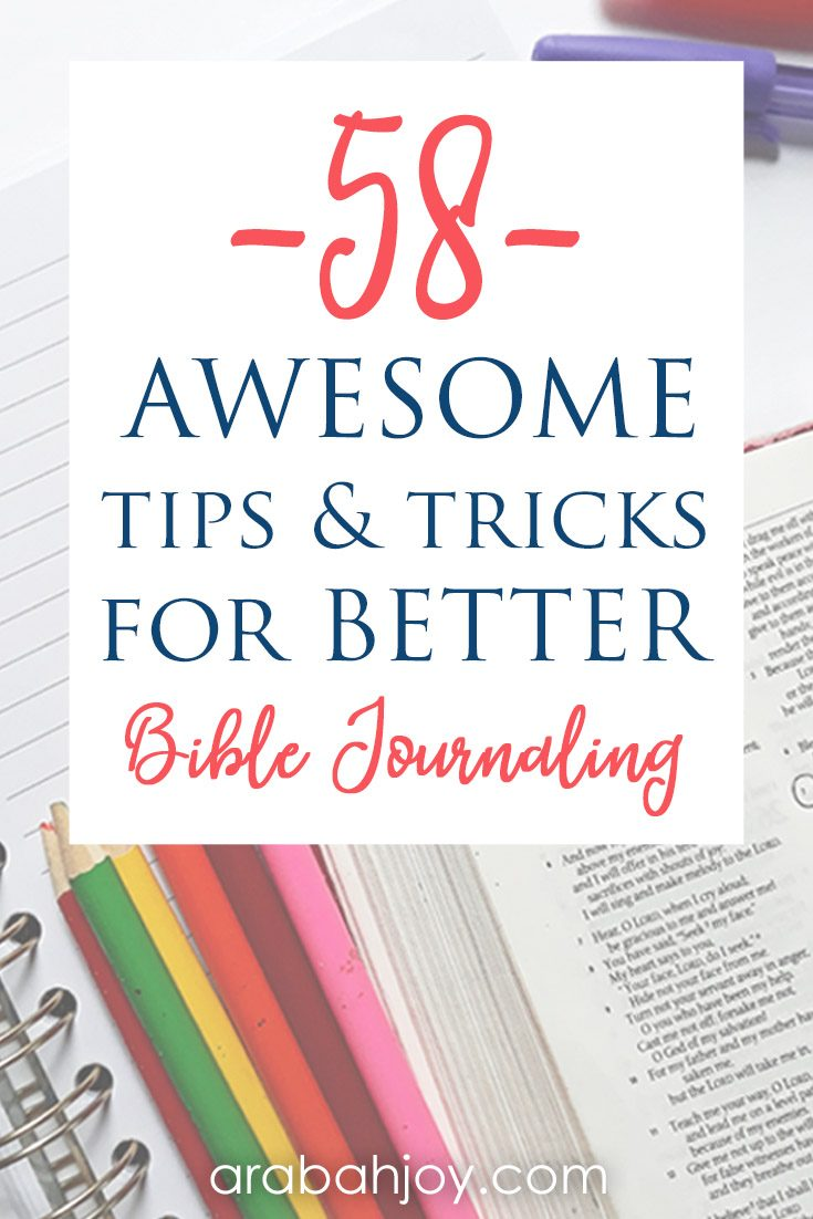 If you're looking for Bible journaling tips for beginners, we've got you covered! We're sharing awesome tips and tricks for better Bible journaling.