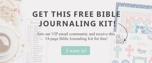 Bible Journaling Kit opt-in