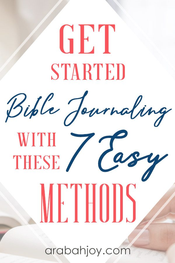 If you're looking for Bible journaling methods for beginners, read through these 7 approaches to journaling. Find Bible journaling inspiration for beginners or long-time journalers.