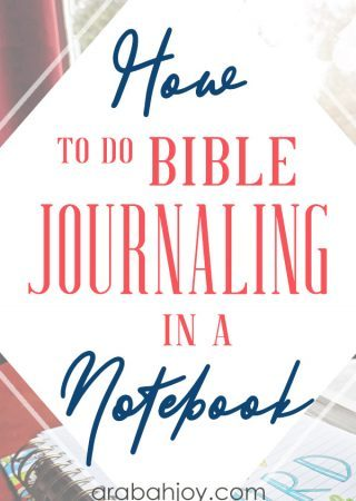 Are you looking for new ways to do your Bible journaling? Grab a Bible study journal and try Bible journaling in a notebook.