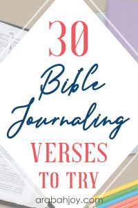 If you like Bible journaling, we have a list of Bible journaling verses you should try. Grab the list and learn how verse journaling changed my life.