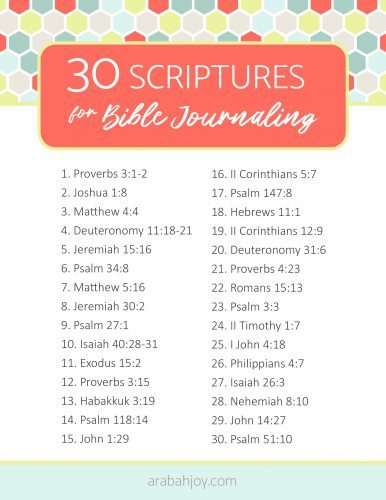 If Bible journaling is something you enjoy, we have a list of Bible journaling verses you should try. Learn how verse journaling changed my life, and get our list of journaling verses.