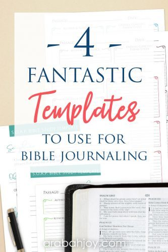 We're offering free and Easy Bible Journaling Templates. These will help in your quiet time, so grab these Bible journaling templates for your Bible time.