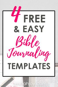 If you're looking for Bible journaling templates, be sure to see the free and easy Bible journaling templates we're featuring in this post.