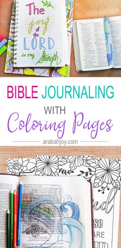 Have you tried Bible journaling with coloring pages? Click through to learn how to do Bible journaling using free coloring pages.