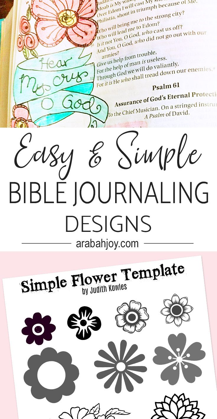 These easy and simple journaling designs will help you create beautiful designs in your quiet time. #spiritualgrowth #Biblestudy #quiettime