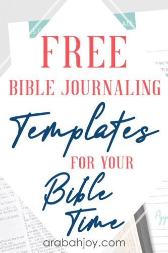 Get these Bible journaling templates for your Bible time. See the templates we're sharing, and learn more about Bible journaling.