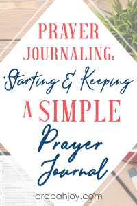 Learn how to start a prayer journal with these DIY prayer journal tips.